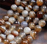 8mm cor natural listra ágata miçangas redondas grânulos de pedra para jóias fazendo bracelete DIY Colar Onyx Bead 369 T2