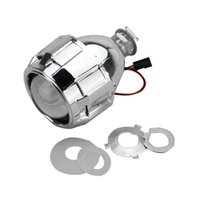 2.5 Inch Xenon Mini Bi-xenon HID Clear Projector Lens Cover Shroud Headlight Custom Headlamp H1 H4 H7 Silver Party Decoration