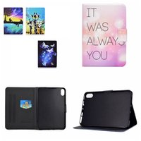 41designs Print Leather Wallet Cases For Ipad 11 2021 10.2 10.5 Air Air2 5 6 7 8 9 9.7 Tablet Fashion Flower Heart Shockproof Butterfly Animal ID Card Slot Holder Flip Cover