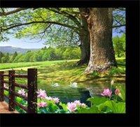 Luxus Europäische moderne HD 3D Baum Landschaft Hintergrund Fototapete 3D Wallpaper 3D Wandpapiere für TV-Hintergrund 1455 V2