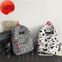 luxury Backpack 2021 New Korean Version Ins Harajuku Leopard Schoolbag Junior High School Students Versatile