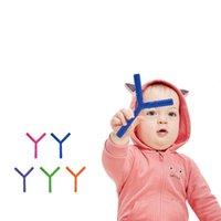 Livre DHL Silicone y estilo palha bebê teether brinquedo mastigável grau alimentar BPA Dentição brinquedos materiais suprimentos materiais