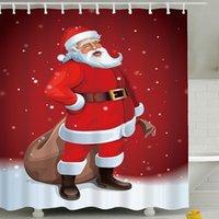 Christmas Bathroom Curtain Shade Swimwear Tecido À Prova D 'Água Cortinas de Ducha Chuveiro Ba60yl Cortinas