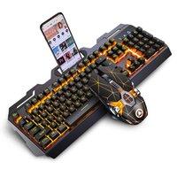 Набор механической клавиатуры и мыши проводной USB компьютер ноутбук игровой клавиатура ПК Teclado Clavier Gamer Completeo Tastiera RGB Delux Combos