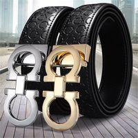 cintura 2021 nuove cinture da donna cinture da uomo all'ingrosso di alta qualità moda casual business metal fibbia cintura in pelle per uomo donna cintura
