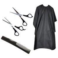 Tijeras para el cabello 1 Set Peluquería Scissor Peine Kit Styling Herramientas Ergonomía Mango Clip Salon Accesorios para Barber Home Use