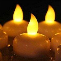 Ночные огни 3 шт. Бесплатусная свеча светодиодный водонепроницаемый чайный аккумулятор эксплуатарированные мерцающие свечи свадьба рождения украшения