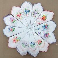 Lenço de algodão Floral Floral Moda Mulheres Handkerchief Flor Lady Lady Hankies Mini Squarescarf Boutique Bolso Toalha HWC6852