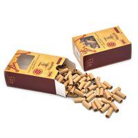 필터 담배 흡연 홀더 7mm 팁이있는 120 캡슐의 작은 상자 갈색 압연 액세서리 홀더 롤링 종이 18 * 7mm