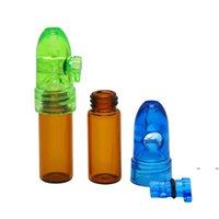 Botellas de almacenamiento tarros caja snuffer 67mm82mm altura acrílico cristal cohete botella snuff snortal sniffer dispensador cxoof hdoal fwb7514