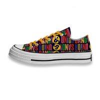 Custom Printed Shoes Music Band Logo Sandy Junior Sneakers Low Unisex Mens Womens Skateboard Sport Footwear Diy Trainers Canvas Casual Shoese L5NM
