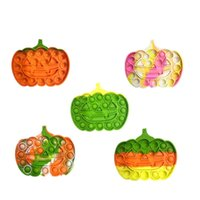 Halloween push bubble pumpkin fidget toys Party Favor gift stress relief high quality decompression simple dimple sensory education toy for children