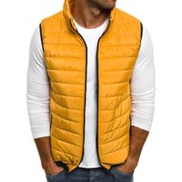 Autumn Winter Men Jakect Vests Casual Sleeveless Stand Colla...