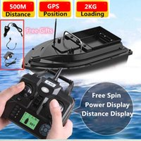 500m Long Distance GPS Position RC Fishing Bait Boat With Flash LED Light Fixed Speed Cruise Strong Motor Power 2KG Loading Nest X0522
