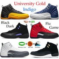 С коробкой 12s черный университет золотой темный concord 12 баскетбольные ботинки индиго обратный грипп игры такси восход солнца CNY кроссовки мужчины бегущие тренажеры