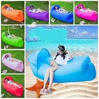 Tragbares aufblasbares Bett im Freien Sonnenschirm Sandstrand Luftmatratze Oxford Wasser Spiel Schlafsack Sammlung faule Person 42 3cj n1