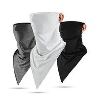 Cycling Caps & Masks Summer Fishing Mask Ice Silk UV Riding Scarf Sunscreen Bandana Breathable Outdoor Sports Camping Triangle Headband