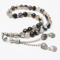 Tennis Islamic Muslim Rosary Tasbih Round Shape 33 Prayer Beads Islam Turkey Mohammed Women Men Beaded Strand Bracelet