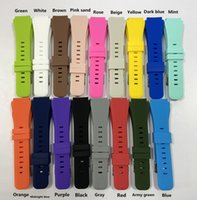 17 Colors Silicone Smart Straps For Samsung Watch Bands Galaxy 3 46mm Gear S3 Frontier Amazfit Bip Active Bracelet 20 22mm Wristband Huawei GT 2 2e 42mm Watchband