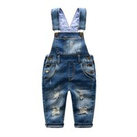 Flash Sale Kids Jeans Baby Rompers Spring Boys Girls Overalls Jumpsuit Pants Toddler Trousers Clothes Children Clothing
