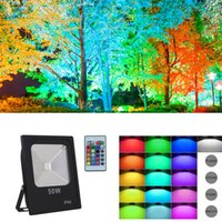 RGB LED Flood Lights IP66 Waterproof 16 Colors Change 4 Modes with IR Remote Control Wall Wash Light Security Light