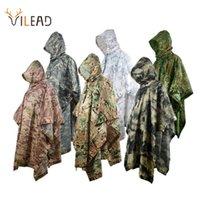 Vilead بولي ماء المعطف المعدات في الهواء الطلق متعددة الوظائف دراجة نارية المطر المعطف المظلة الرجال النساء دائم 210320