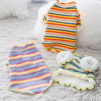 Dog Apparel Stripe Warm Clothes Puppy Pet Cat Sweater Jacket Coat Winter Fashion Soft For Small Dogs Chihuahua Supplies