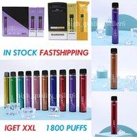 Original Iget XXL Disposable Pod cigarettes Device Kit 1800 Puff 950mAh 7ml Prefilled Vape Stick For BANG SHION Lite Plus Max Flow 100% VAPES XXLBANG PUFFS