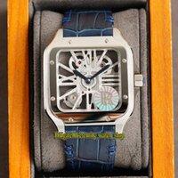 영원한 시계 v3 업그레이드 버전 rrf 2020033 horloge skeleton 0015 스위스 ronda 4S20 쿼츠 망 시계 316L 스틸 케이스 빠른 분해 가죽 슈퍼 에디션