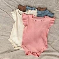 الصيف الاطفال ملابس الطفل مضلع الملابس مجموعات الفتيات منزعج رومبير أعلى + عالية الخصر السراويل 2 قطعة / المجموعة بوتيك الرضع يتسابق M3388