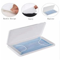 Dustproof Mask Case Portable Disposable Face Masks Container Safe Pollution-Free Disposable Mask Storage Box Storage Organizer