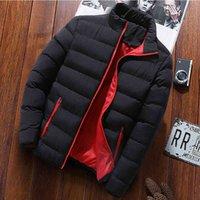 럭셔리 브랜드 남성용 다운 자켓 따뜻한 두꺼운 남성 파카 재킷 겨울 캐주얼 망 Outwear 코트 솔리드 스탠드 칼라 남성 방풍 면화 패드