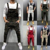 Pantalon d'homme de jeans pour hommes pour hommes de poche denim combinaison combinaison de créateurs de marque cool de marque Streetwear Sexy barmender pantalon E21