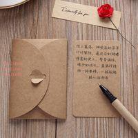 Retro Kraft Paper Greeting Card Creative DIY Handmade Dried Flower Birthday Valentines Day Universal Blessing Card Gifts VTKY2168