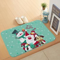 Carpets Cartoon Snowman Elk Anti-slip Christmas Carpet For Living Room Home Indoor Area Rugs Bedroom Bedside Bay Window Sofa Floor Mat