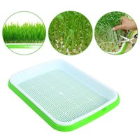 Sets Seed Sprouter Trays Soil-Free Big Capacity Germination Grass Grow Box Plants Tray Double-layer Soilless Culture Planters & Pots