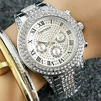 Дизайнерские роскошные брендовые часы Feminino Contena Top из нержавеющей стали серебряные серебряные брюки алмазные дамы ES женщин горный хрусталь запястья