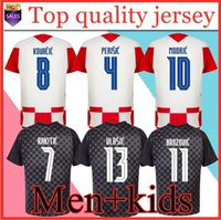 Modric Men + Kids Kit 2020 2021 Nationalmannschaft Mandzukisches Zuhause ORSIC Fussball Jersey Perisic Rakitic Srna Kovacic Brozovic Rebic Adult Football Hemden