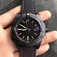 sport luxury men's watch black titanium alloy case 2824 automatic mechanical sapphire well waterproof fabric bracelet diameter 44mm top wristwatch