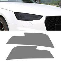 Film de la voiture Film fumé Black Front Lampe de lampe de film Protecteur Couverture Couverture Couverture Sticker Accessoires extérieurs pour Audi A4 B9 2016-2021