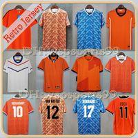 1988 # 12 van Basten # 10 Gullit # 17 Rijkaard Mens Futbol Formaları 2002 Hollanda # 8 Bergkamp Futbol Gömlekler 1991 1995 1996 Sneijder de Zeeuw Schaars Retro