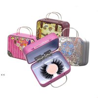 Creative Retro Glove Box For Package Eyelash False Eyelashes Packaging Small Iron Boxes BWA6319