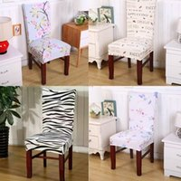1Pcs High Quality Anti Mite Removable Printing Pattern Chair Cover Stretch Slipcovers Short Dining Room Seat Decor Covers