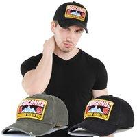 DSQ6 아이콘 DSQICOND2 야구 모자 남성과 여성 패션 디자인 면화 자수 조정 가능한 스포츠 시설 멋진 품질의 머리 착용