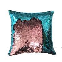 Деловая подушка с блестками с блестками подушки русалки подушки подушки обратимые блестки наволочки магический цвет домашнего декора FWE7035