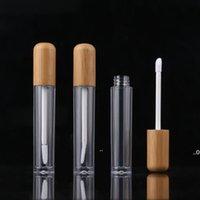 새로운 5ml 빈티지 대나무 립글로스 포장 병 재충전 된 입술 Balm 튜브 빈 화장품 컨테이너 포장 립 브러시 DIY 튜브 EWD7346