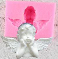 NUEVO 3D Love Eros Chocolate Molde de chocolate Postre Molde Cupido Pastel Molde San Valentín Plantilla de pastel de San Valentín God of Love Wedding Banking Mold EWF7770