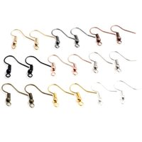 100 adet / grup, 20x17mm DIY Takı Küpe Bulguları Küpe Klipsler Kanca Ek Parçaları Yapma Aksesuarları Demir Kanca Earwire