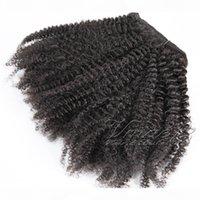 100% cabelo peruano clipe insy remy cutícula de cor natural alinhada cabeça cheia 100g personalizado kinky encaracolado para mulheres extensão de cabelo