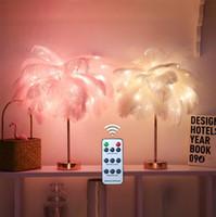 Uzaktan Kumanda Tüyü DASK Lamba Dekorasyon Gece Lambası Noel Sevgililer Günü Parti Masa Oturma Odası Yatak Odası Hediye Lambaları Için